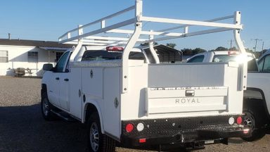 Service Body with Ladder Racks
